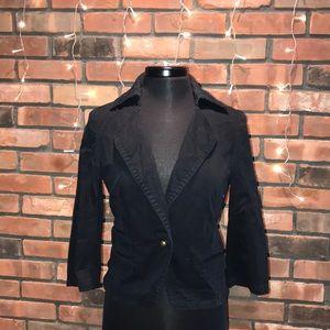 🖤🍁Express Black Blazer Coat 3/4 Sleeve Khaki Ma